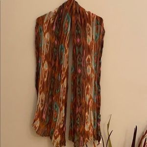 EUC H&M multi colored brown scarf/wrap 72""